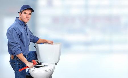 화장실을 수리 배관공. 배관 및 개조 배너입니다.