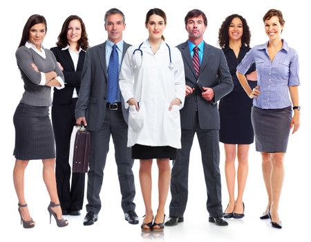 ビジネス人のチームが白背景に分離されました。 写真素材