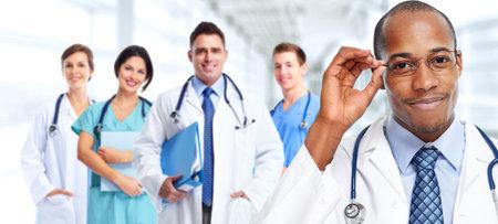 専門医師のグループです。保健医療の背景。 写真素材