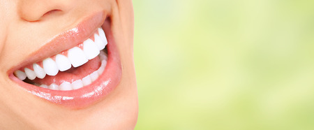 Beautiful woman smile with healthy white teeth. Dental health care. Stock Photo - 51262584