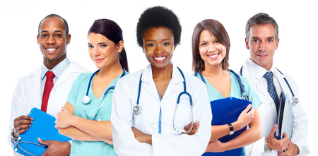 Group of medical doctors. Health care concept background.