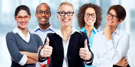 Group of business people wearing eyeglasses. Eye health care.