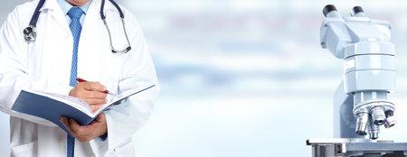 Doktor Hände. Medizinische Versorgungsforschung Konzept Hintergrund.
