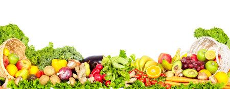 Frutta e verdura biologica fresca. Dieta e sfondo di salute. Archivio Fotografico - 54382746
