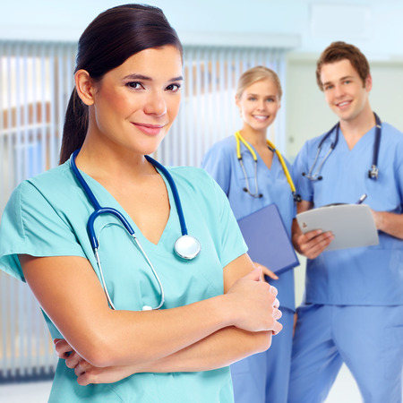 Group of doctors and nurses in medical clinic. Imagens - 58074365