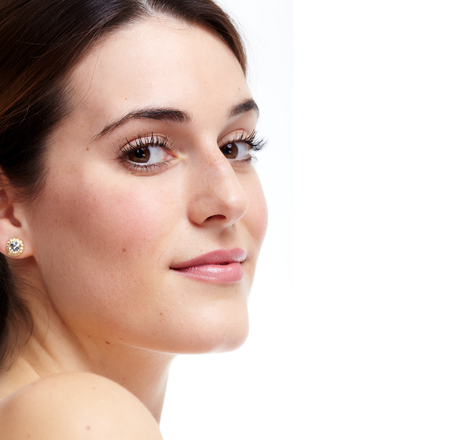 Beautiful young woman close-up. Beauty and skin care. Imagens