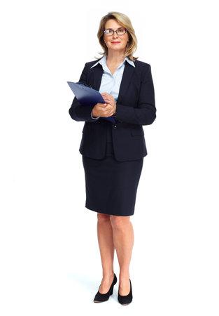 Senior Business-Frau auf weißem Hintergrund isoliert. Standard-Bild - 59024068