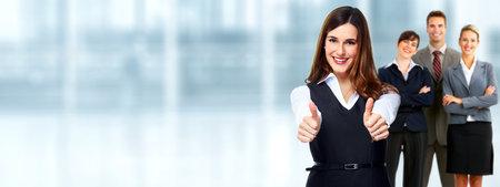 Groep van professionele mensen uit het bedrijfsleven. Teamwork en onderwijs achtergrond. Stockfoto - 61329733