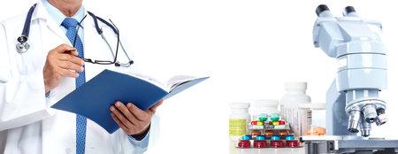 Docteur mains. Médical soins de santé concept de recherche de fond.