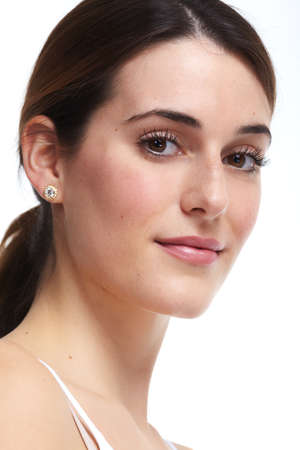 Beautiful young woman close-up. Beauty and skin care. Stok Fotoğraf