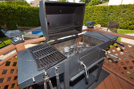 Empty Barbecue grill ready for cooking food.