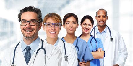 team van artsen en verpleegkundigen in het ziekenhuis