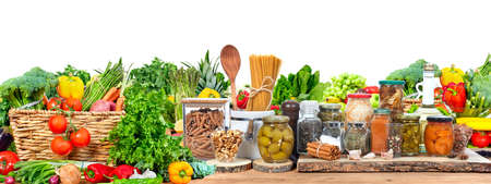 Organic vegetables and fruits Stockfoto