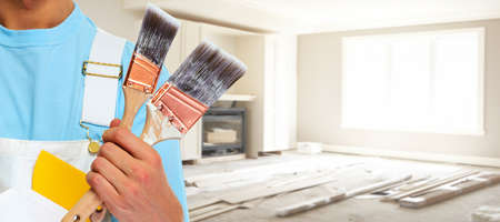 Painter hands. 스톡 콘텐츠
