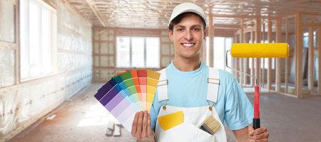 Hombre pintor. Foto de archivo - 69393109