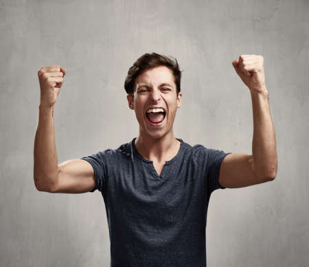 Happy man.