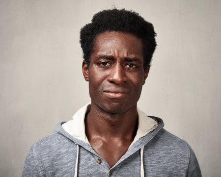 Sad black man