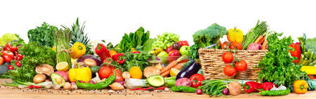 Organic vegetables and fruits 스톡 콘텐츠