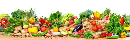 유기농 야채와 과일 스톡 콘텐츠