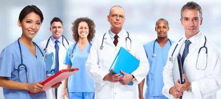 Doctor nurse group Stock Photo