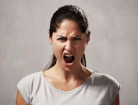 Angry woman Archivio Fotografico