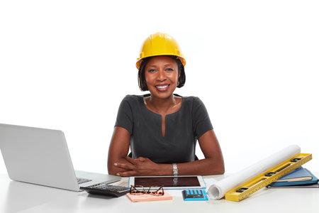 아프리카 계 미국인 비즈니스 여자입니다. 스톡 콘텐츠