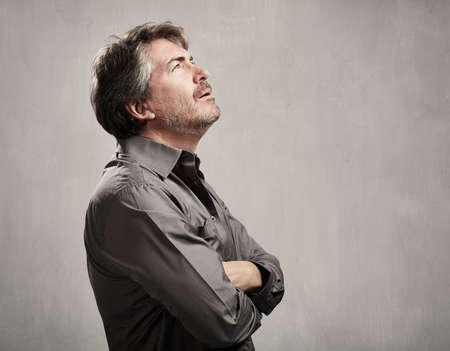 Thinking man Stockfoto