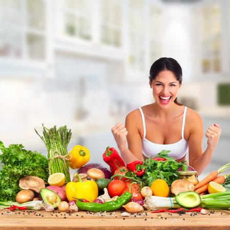 Gelukkige fitness vrouw. Stockfoto