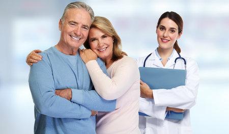 Arts en patiënt paar. Stockfoto