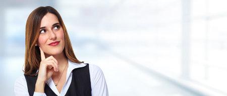 Thinking businesswoman Imagens