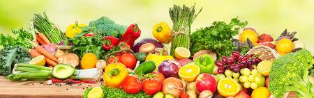 Gemüse und Obst. Standard-Bild