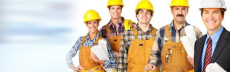 L'équipe des travailleurs de la construction Banque d'images - 76605797