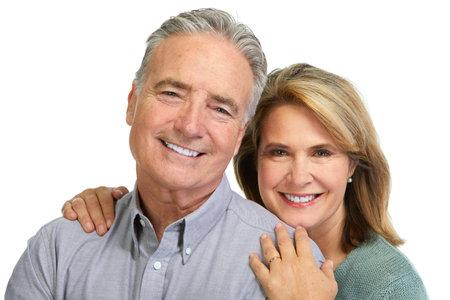 Senior paar lachende.