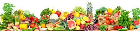 Vegetables and fruits background