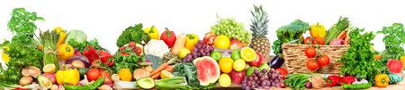 Gemüse und Früchte Hintergrund Standard-Bild - 76713323