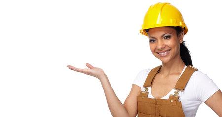 Builder worker woman