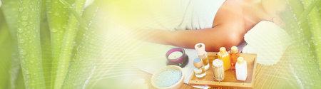 Woman having massage