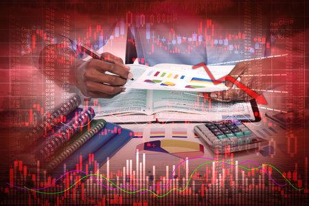 Stock market crash Stockfoto