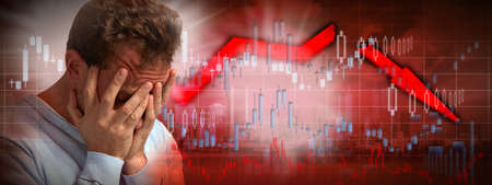 Stock market crash. Stockfoto