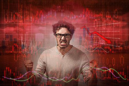 Stock market crash. Banque d'images