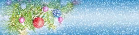 Christmas tree decoration background.
