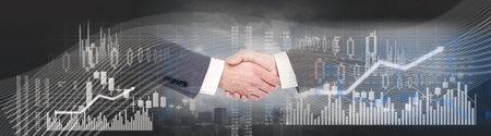 Business handshake background
