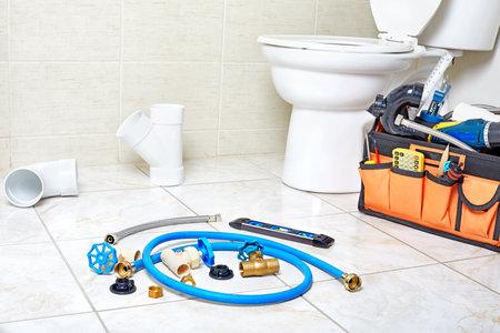 Plumbing repair tools. Banque d'images - 118071101