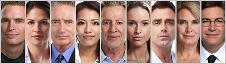 calm people faces Stock Photo