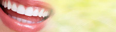 Beautiful woman smile. Фото со стока - 119642012