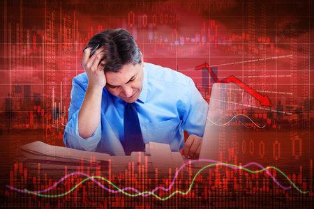 Stock market crash. Zdjęcie Seryjne