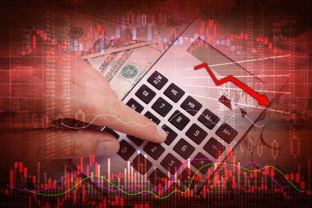 Stock market crash Banco de Imagens