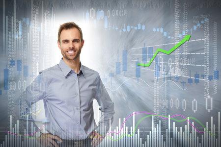 Smiling investor man.