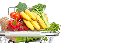 Fresh organic vegetarian healthy food banner background.