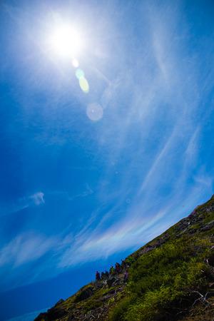 iridescent: Iridescent clouds Stock Photo
